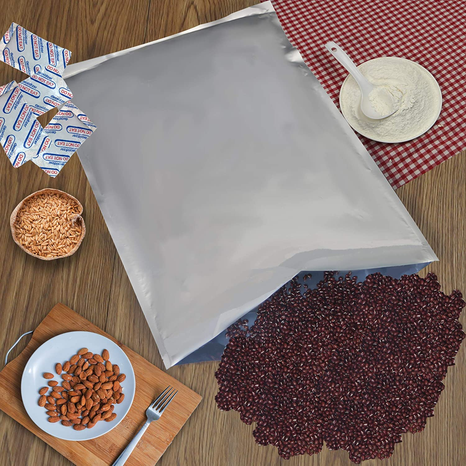 Absorb King 20 Pc, 5 GALLON MYLAR BAGS without ziplock 20