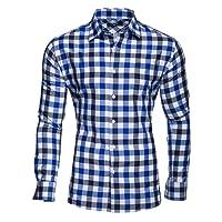 Kayhan Homme Chemise Slim Fit Repassage Facile, Coton, Manches Longues Coupe Parfaite, Produit de qualité Modell - Carreaux