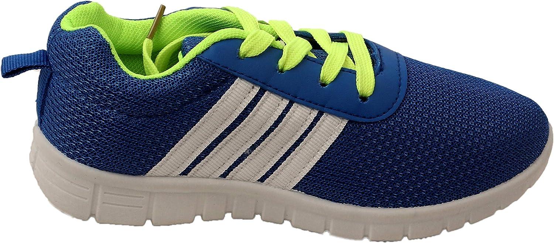 JIVTO - Zapatillas de Running para niños, Blanco (Azul), X-Small: Amazon.es: Zapatos y complementos