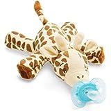 Chupete con mono BabyHuggle - Chupeta con peluche para bebé, Juguete ...