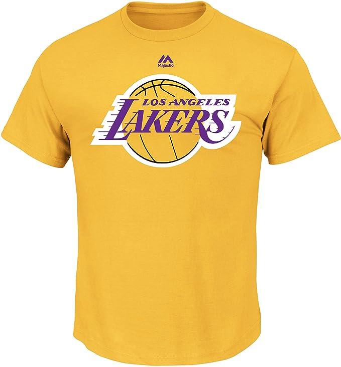 VF LSG Hombres de la NBA logo II camiseta de manga corta básica, hombre, NBA Mens Logo Tee II Short Sleeve Basic Tee, dorado, large: Amazon.es: Deportes y ...
