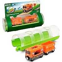 BRIO 33891 BRIO Train - Cargo Train and Tunnel, 3 Pieces Train Set