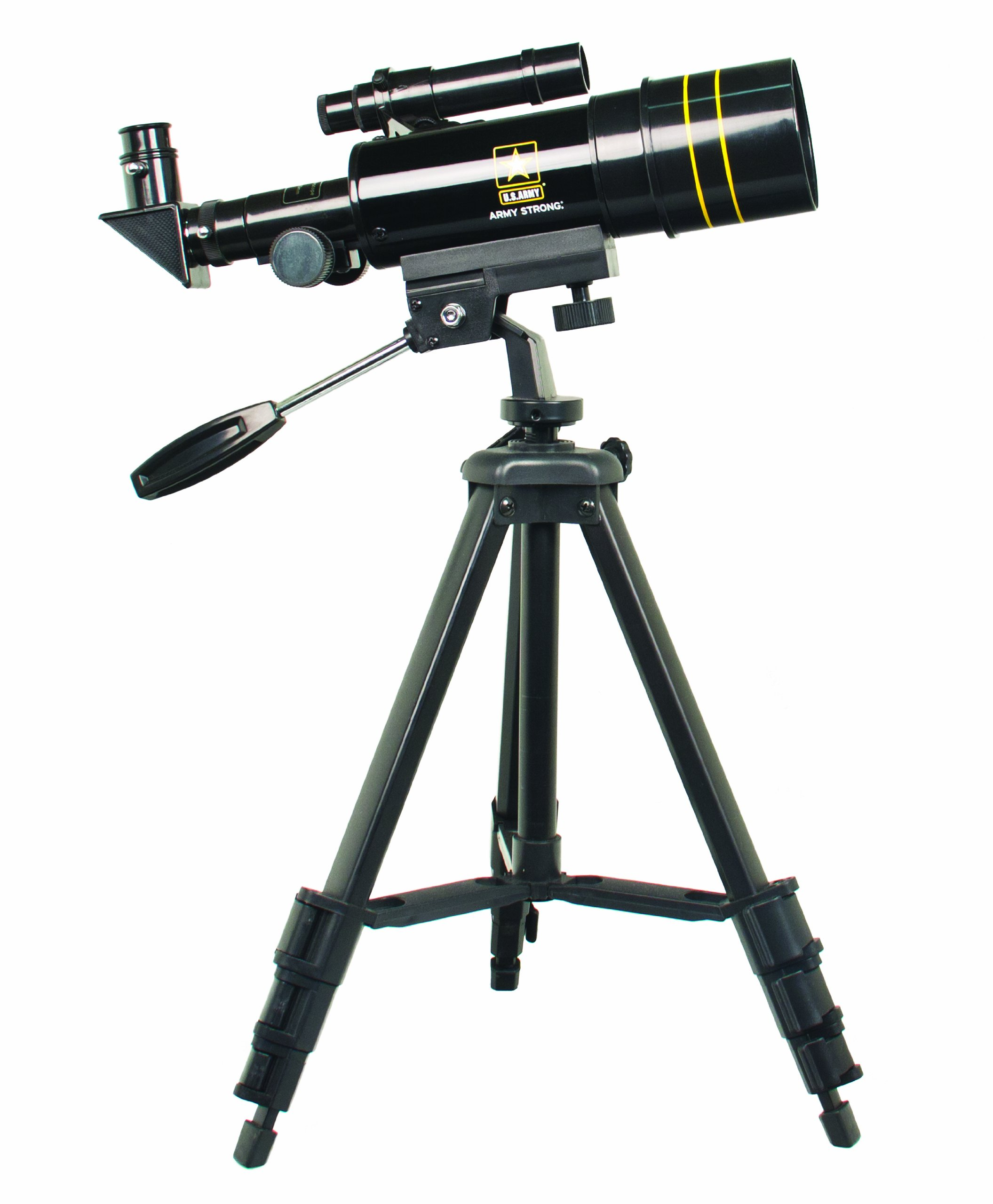U.S. Army US-TF30060 Refractor Telescope 300x60 (Black) by U.S. Army