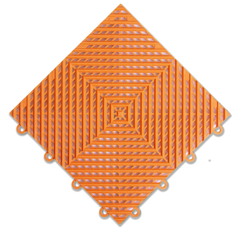"IncStores Nitro Garage Tiles 12""x12"" Interlocking Garage Flooring (1-12""x12"" Tile, Coin Arctic White)"