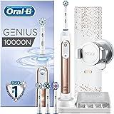 Oral-B Genius 10000N Elektrische Zahnbürste, mit Zahnfleischschutz-Assistent und Premium Reise-Etui, rose gold