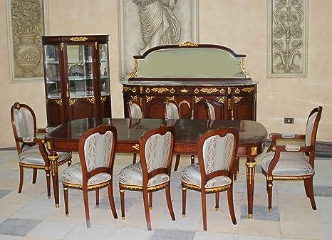Credenza Con Vetrina Stile Inglese : Louisxv la cena barocco tavolo credenza replica in vetrina stile