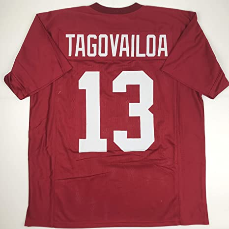 9ff15bb91 Image Unavailable. Image not available for. Color  Unsigned Tua Tagovailoa  Alabama Crimson College Custom Stitched Football Jersey ...