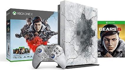 Microsoft Xbox One X 2 TB SSD Enhanced Gears 5 edición limitada Arctic Blue Console, Gears