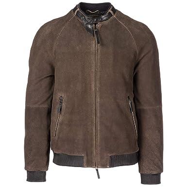 Emporio Armani chaqueta cazadoras de hombre en piel nuevo marrón EU 50 (UK 40) 11B04P11P04: Amazon.es: Ropa y accesorios