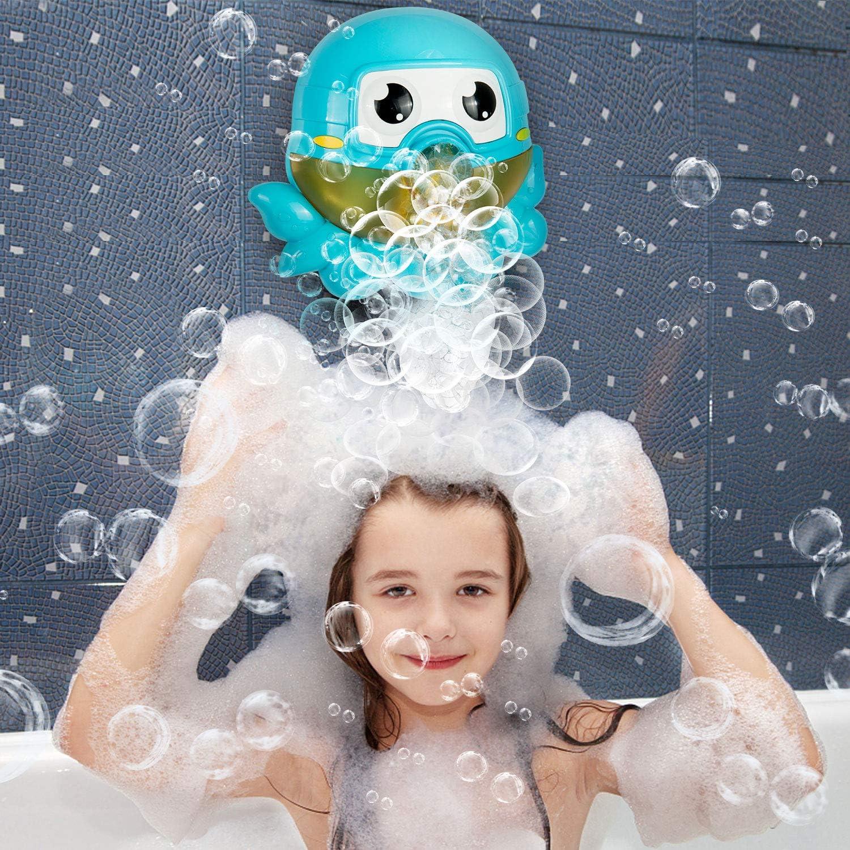ZWOOS Giocattoli da Bagno Giocattoli Kids Bath Bubble Machine Bolla Automatica Macchina Bambini con Musica di Filastrocca per Bambini Piccoli