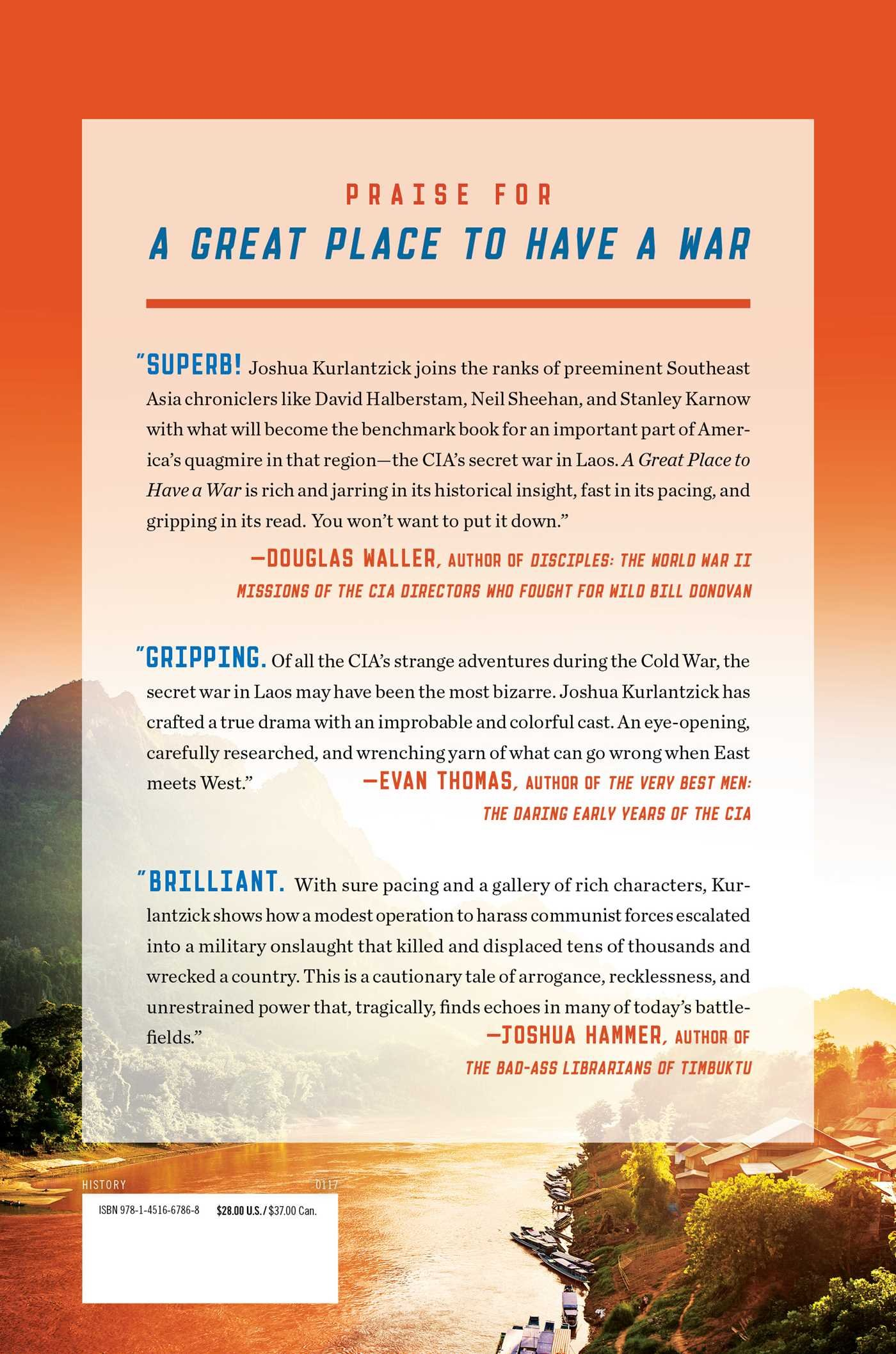 A Great Place To Have A War: America In Laos And The Birth Of A Military  Cia: Joshua Kurlantzick: 9781451667868: Amazon: Books