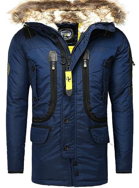 Geographical Norway - Abrigo - para Hombre Azul Marino XX-Large: Amazon.es: Ropa y accesorios