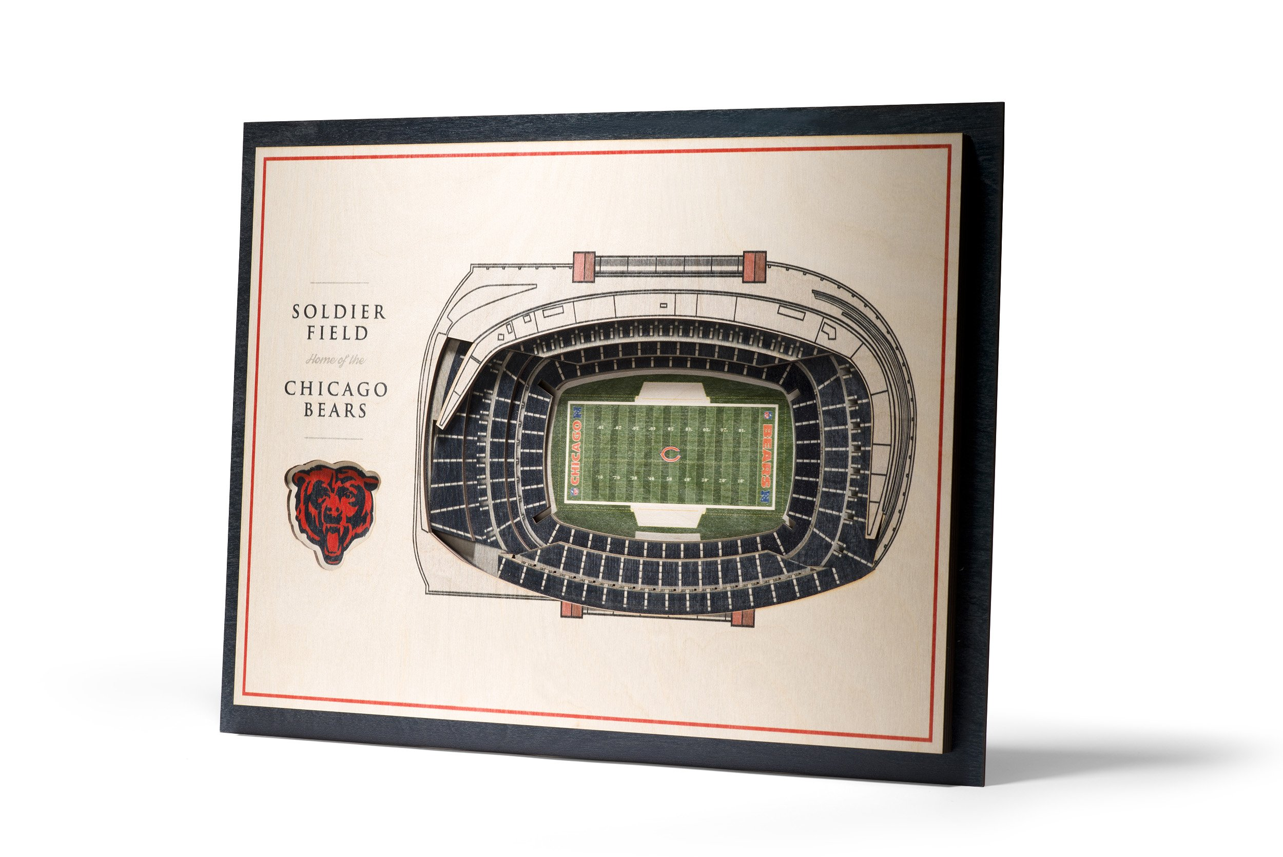 NFL Chicago Bears 5-Layer Stadiumviews 3D Wall Art by YouTheFan