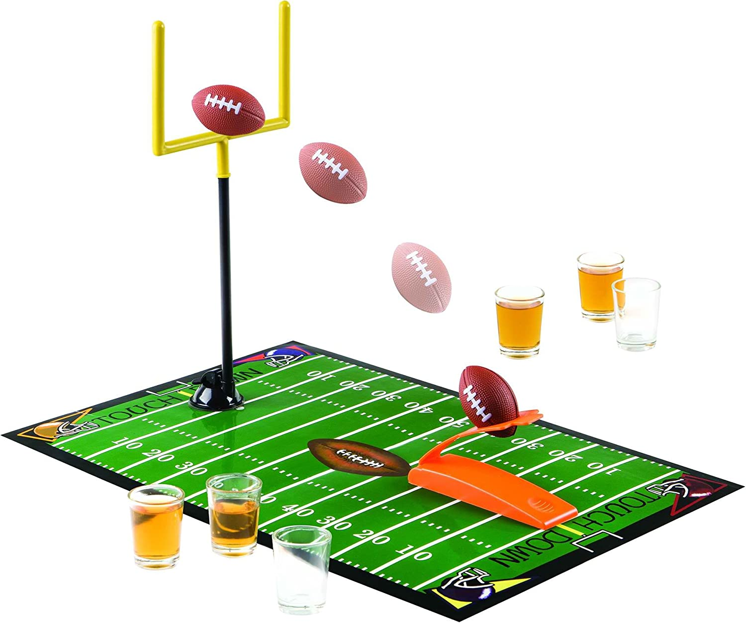 Home Essentials 3700G House of Games-Football Game with 6 Shot Glasses