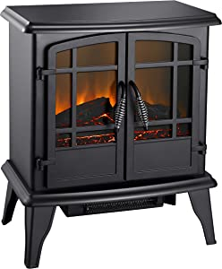 "Pleasant Hearth SES-41-10 20"" Electric Stove-Matte Black Finish"