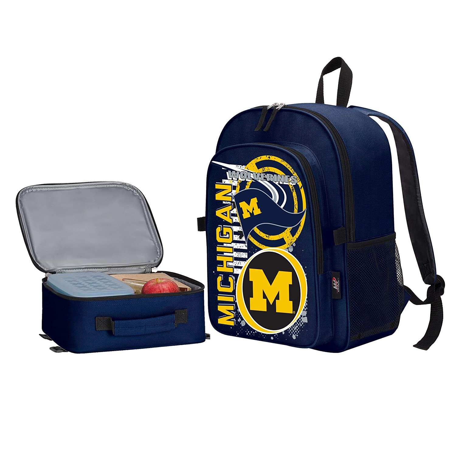 Multiple Colors Officially Licensed NCAA Accelerator Backpack /& Lunch Kit Set 16 x 9.5 x 12