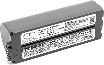 Vhbw Li Ion Batterie 2000mah 22 2v Pour Imprimante Photocopieur Imprimante à étiquette Canon Selphy Cp 100 Cp 1000 Cp 1200 Cp 1300 Cp 200 Cp 220 Amazon Fr Informatique
