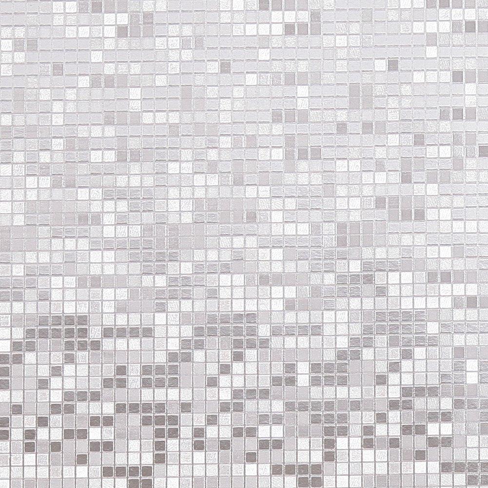 Hanmero Lujoso papel de oro Mosaico papel pintado papel de pared TV Teló n de Fondo/ Hotel/Cocina/KTV, color dorado, 0,53m*10m=5,3㎡ 3㎡