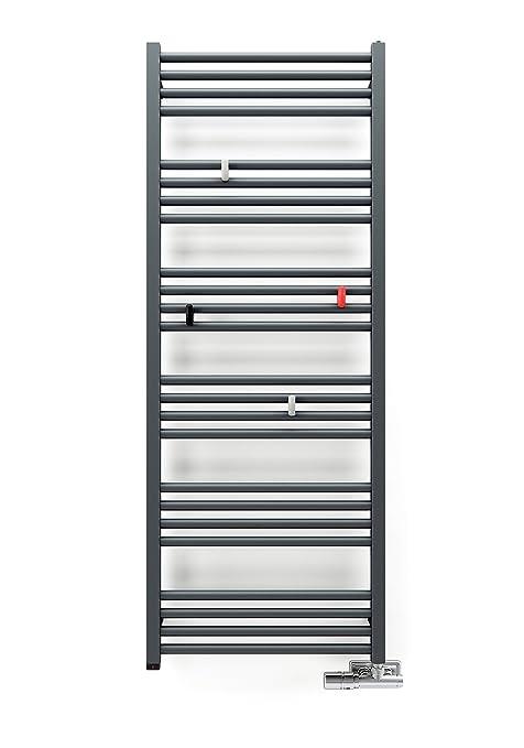 anapont Radiador Toallero Eléctrico, con temporizador, blanco, incl. Calentador de CARTUCHO ktx