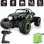 XIXOV RC Car, 1:14 Aluminium Alloy Kids Large Size High Speed Fast Racing Monster Vehicle Electric Hobby Toy Truck with Two