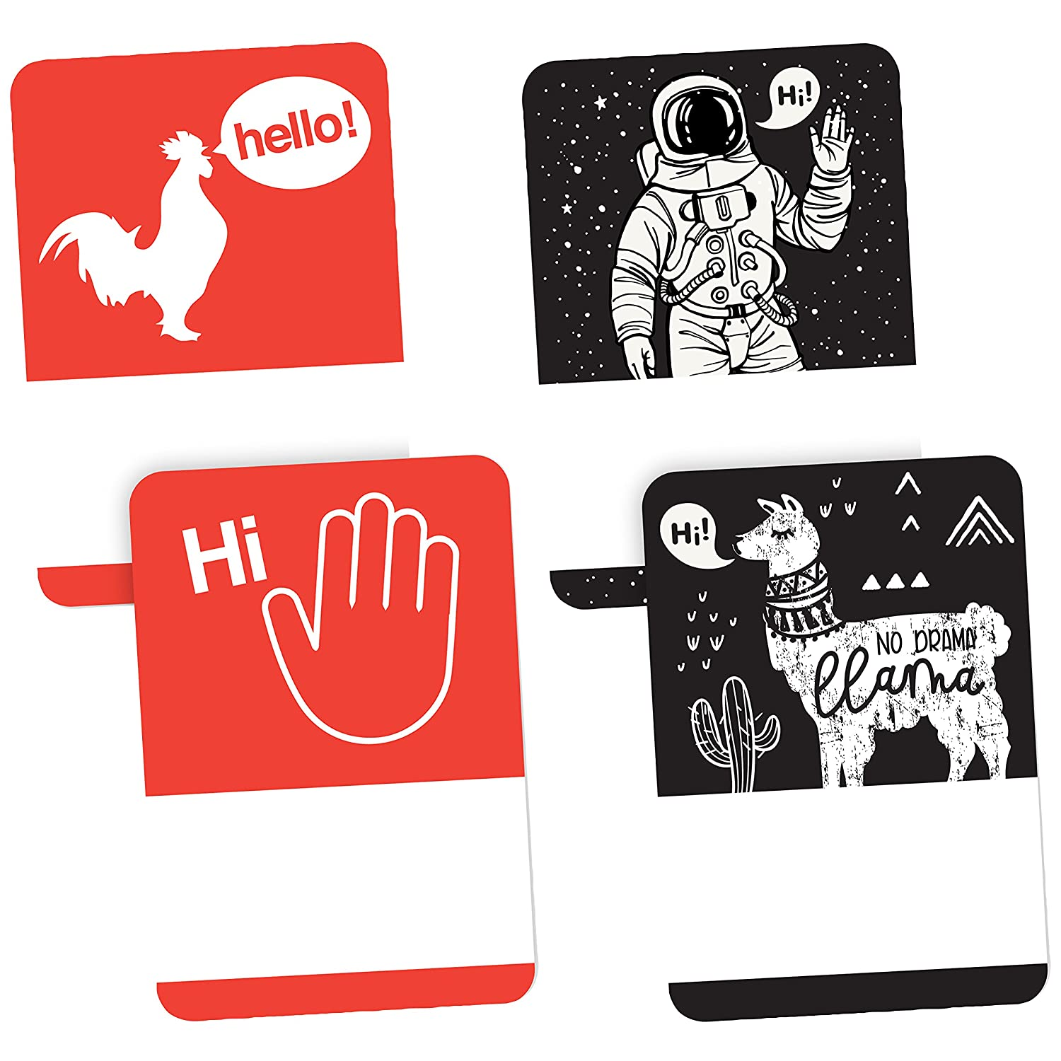 Astronaut No Lift No Curl Wave Avery Premium Ice Breaker Name Tags Llama 36 Handwriteable Name Stickers Rooster