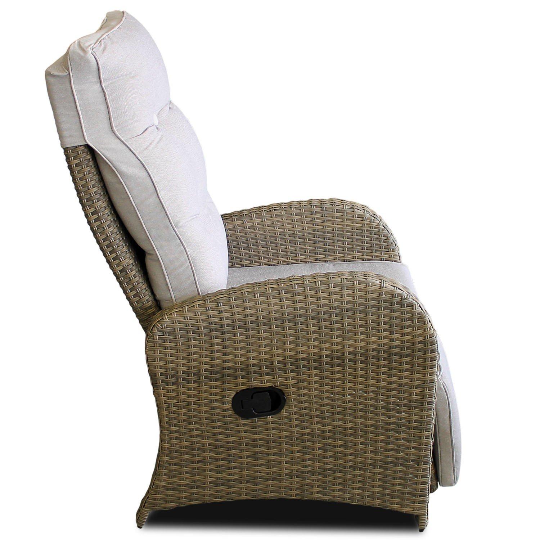 Amazon.de: Poly Rattan Gartensessel Relaxsessel Fernsehsessel ...