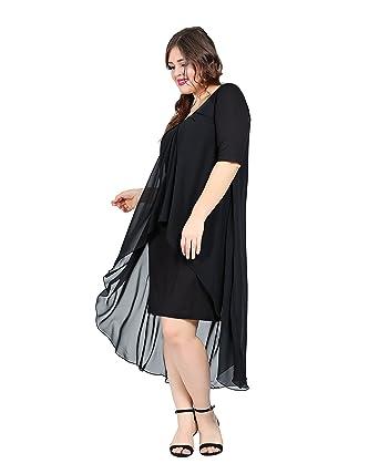 Damen Chiffon Kleid Abendkleid Freizeitkleid auch Große Größen ...
