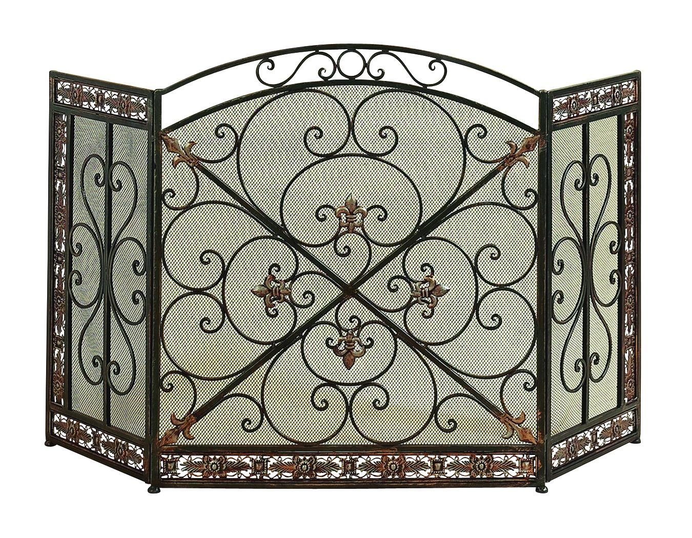 Deco 79 71822 Metal Fire Screen,, 52