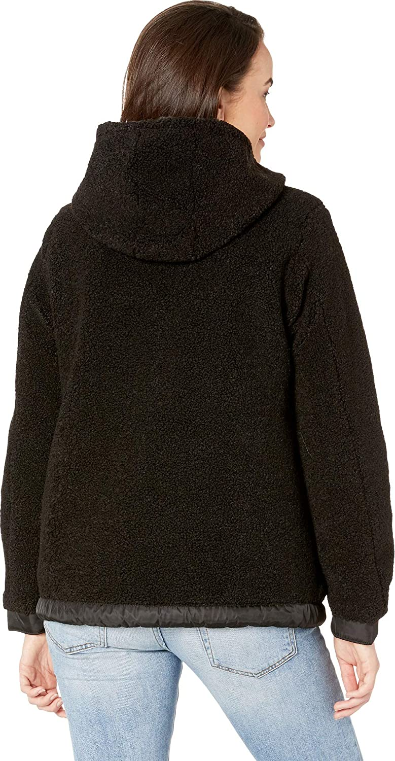 07cb5fdb57ab1a Vince Camuto Women's Hooded Faux Shearling Jacket R8971 at Amazon Women's  Coats Shop
