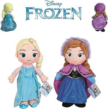 Disney - Pack 2 Princesas de Frozen - Elsa + Anna 30cm Calidad Super Soft: Amazon.es: Juguetes y juegos