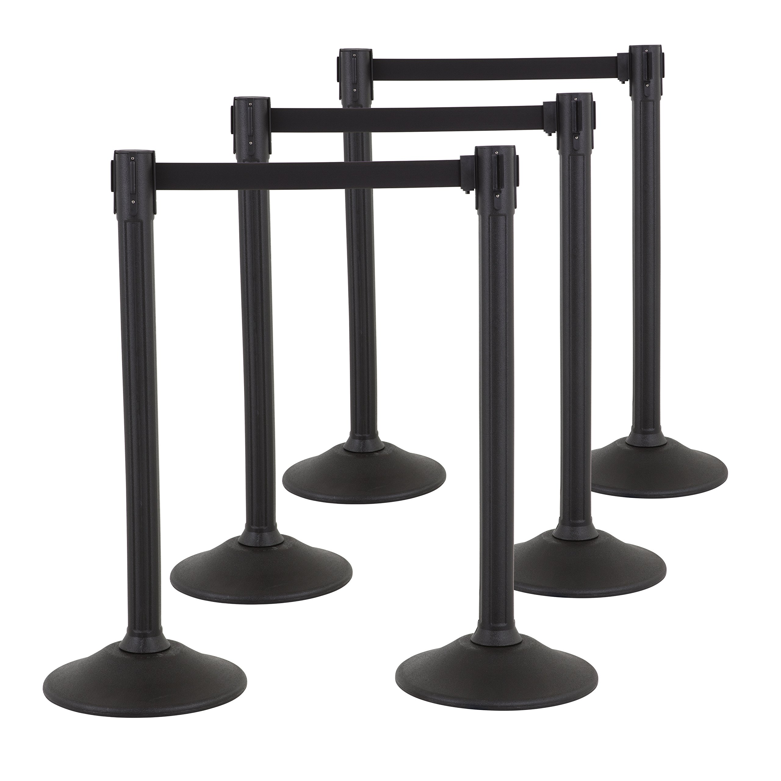 US Weight Sentry Stanchion with Retractable Belt (6-Pack)