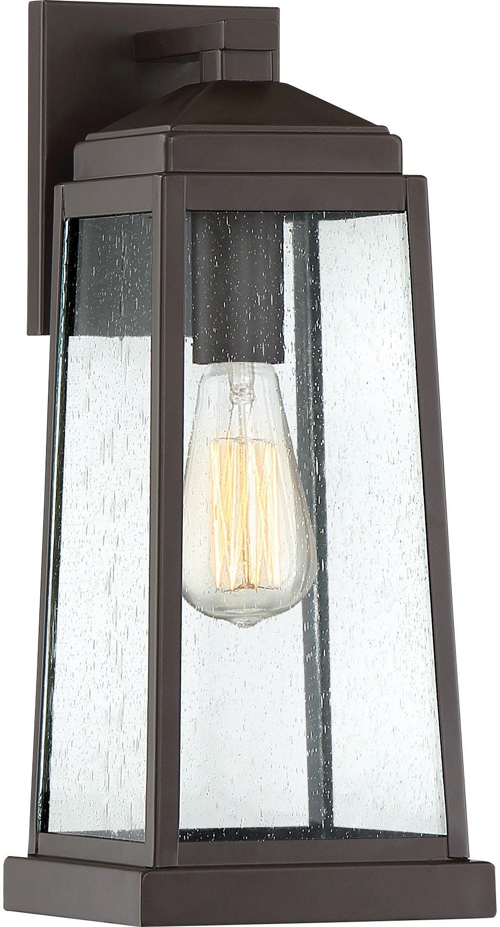 Quoizel RNL8407WT Ravenel Outdoor Wall Sconce Lighting, 1-Light, 100 Watt, Western Bronze (16''H x 7''W)