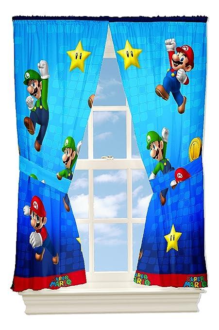 Nintendo Super Mario y amigos de cortinas, 82 por 63-inch