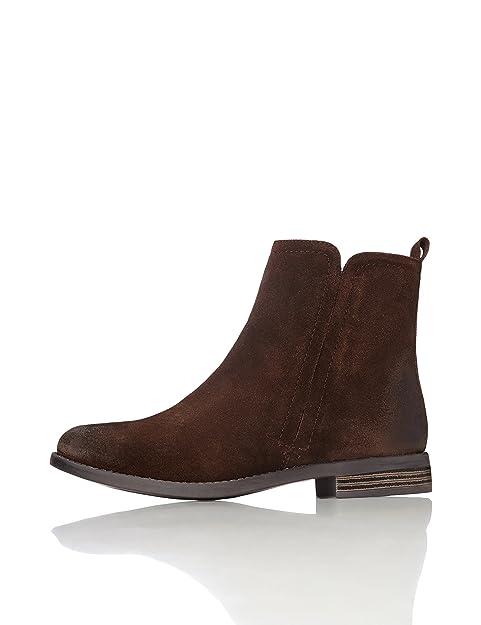 3f7b8044375 FIND Botines Chelsea de Ante para Mujer  Amazon.es  Zapatos y complementos
