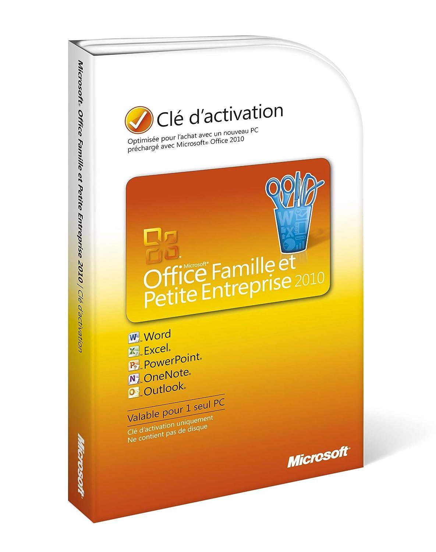 Office Famille Et Petite Entreprise 2010 Outlook Inclus 1 Poste