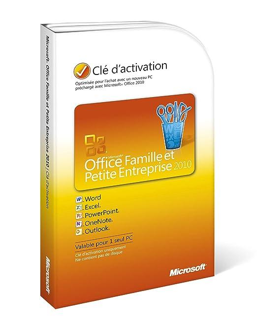 Office famille et petite entreprise 2010 outlook inclus - Office famille et etudiant 2010 3 postes ...