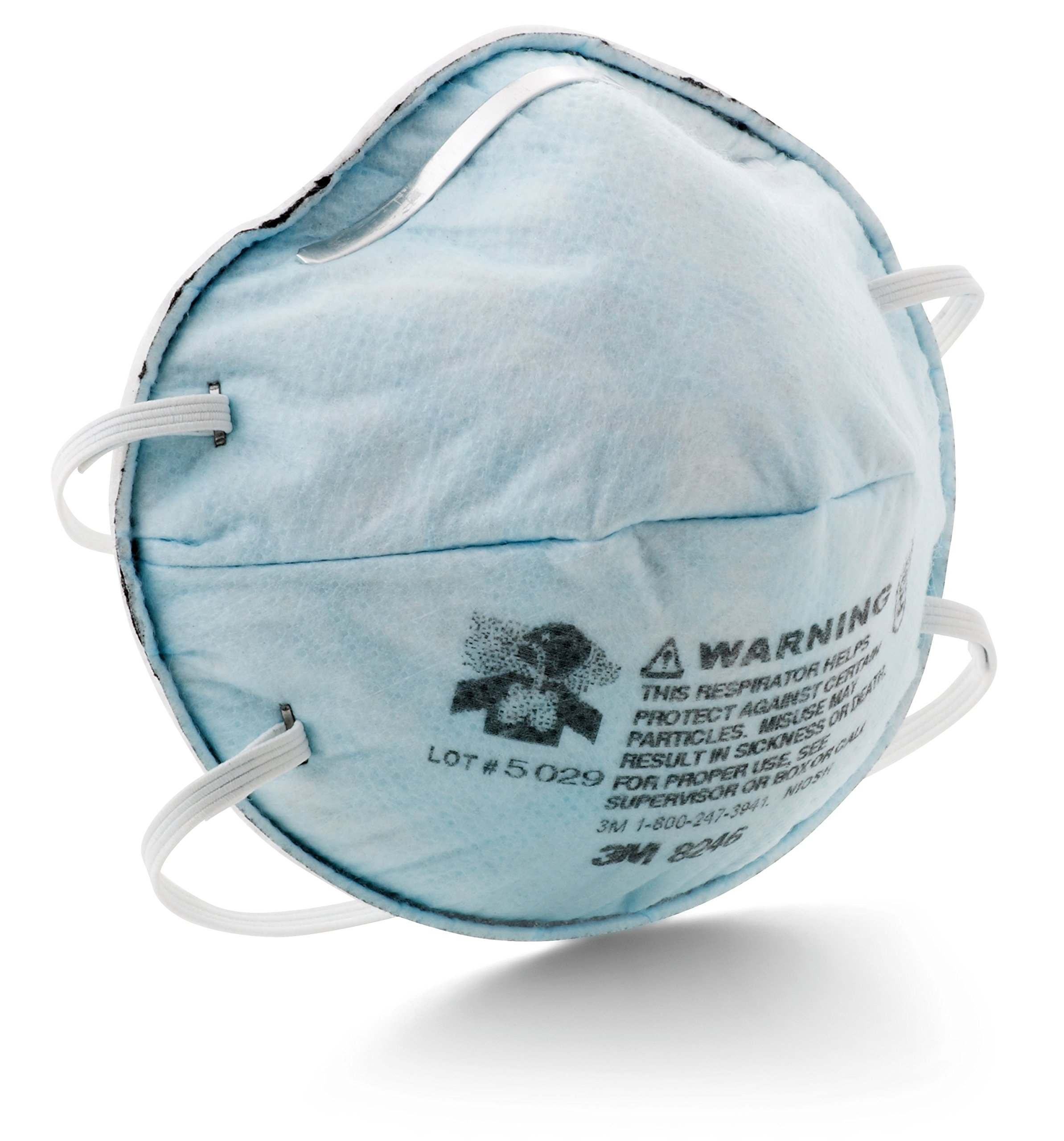 3M Particulate Respirator 8246, R95, with Nuisance Level Acid Gas Relief (Pack of 20) by 3M Personal Protective Equipment