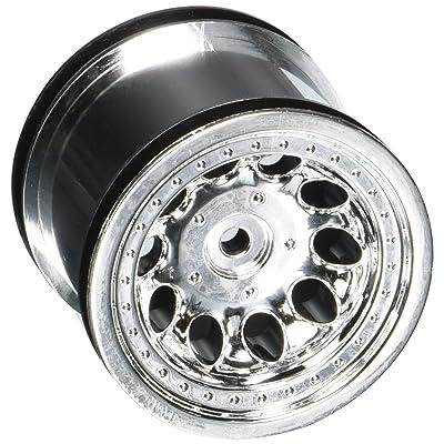RPM Revolver 2.2 Truck Wheels, Traxxas Rear, Chrome: Toys & Games