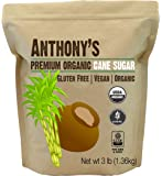 Anthony's Organic Cane Sugar (3 lbs), Granulated, Gluten-Free & Non-GMO