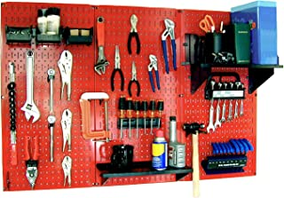 product image for Wall Control 30-WRK-400RB Standard Workbench Metal Pegboard Tool Organizer,Red/Black