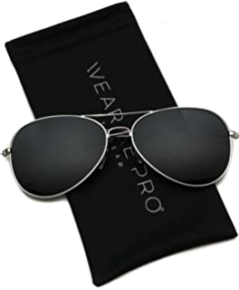 66300a1255b WearMe Pro - Polarized Metal Frame Pilot Style Aviator Sunglasses