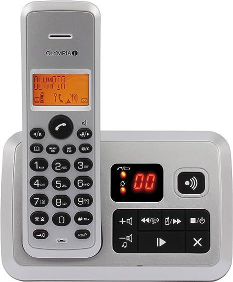 Olympia 2141 - Teléfono inalámbrico con contestador, Plateado: Amazon.es: Electrónica