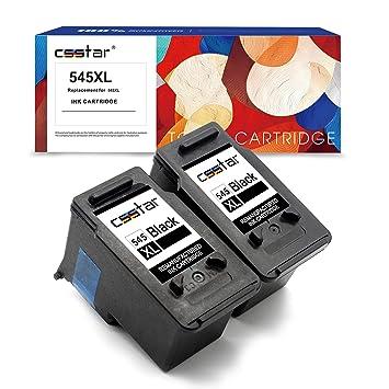CSSTAR Remanufacturado Cartuchos de Tinta Reemplazo para Canon PG-545XL para Pixma MG3051 MG2950 MG3050 MG2550S MG2550 MX495 MG3053 iP2850 MG2450 ...