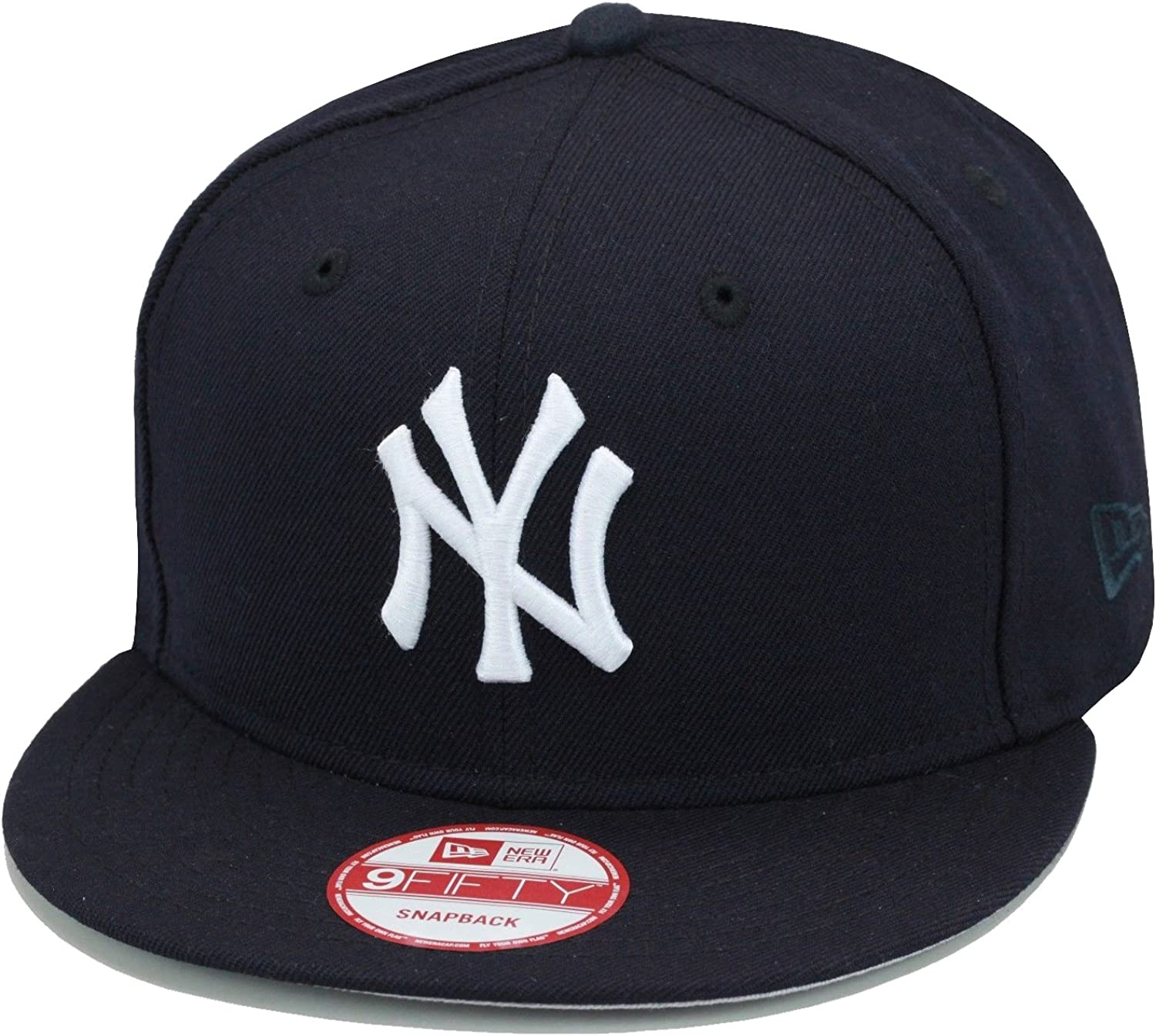 New Era 9fifty New York Yankees Snapback Hat Cap All Navy/White MLB Baseball