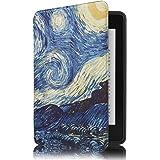 Capa Novo Kindle Paperwhite à Prova D'água WB® Ultra Leve Auto Hibernação Sensor Magnético Silicone Flexível Van Gogh