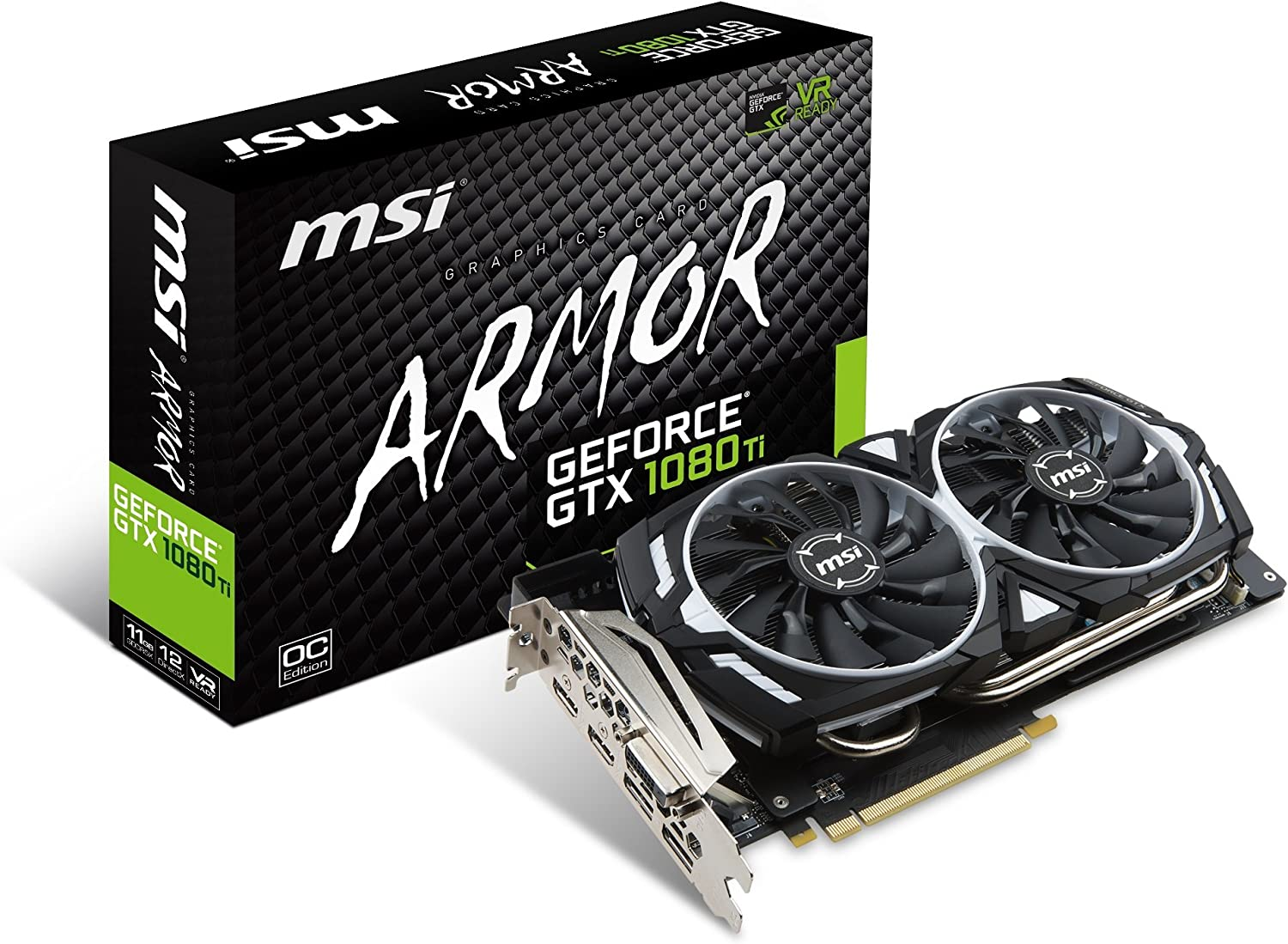 MSI GeForce GTX 1080 Ti Armor 11G OC Video Graphics Card (Renewed)