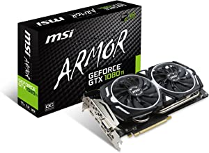 MSI GeForce GTX 1080 Ti Armor 11G OC Video Graphics Card (Renewed)