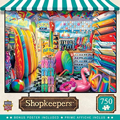 Masterpieces Shopkeepers Beach Side Gear 750 pc Puzzle: Toys & Games