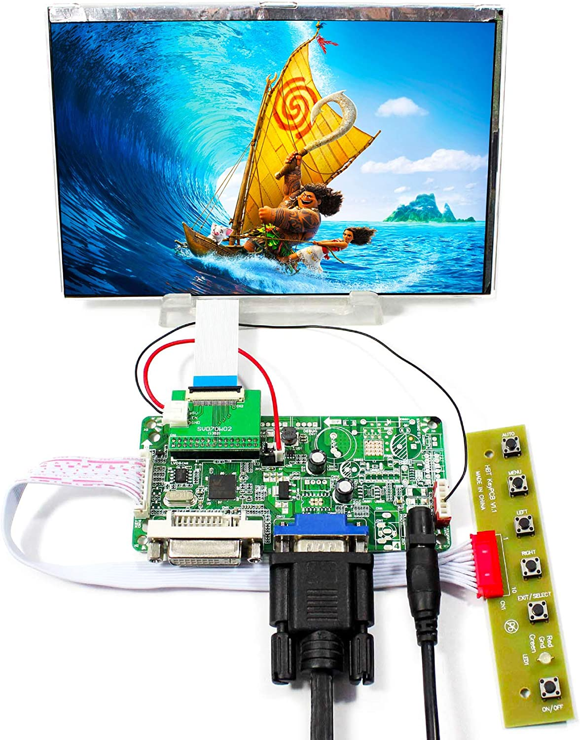 """Details about  /VGA LVDS  LCD Controller Board With 17/"""" LTN170U1-L02 1920X1200 LED Screen"""