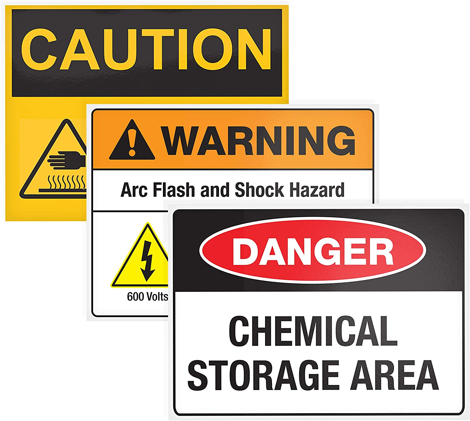 """Avery Surface Safe Safety Sign Labels 15 Pack 7/"""" x 10/"""" Cleanly Removable Water Resistant 61515 Printable"""